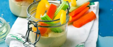 Cucumber and Hummus