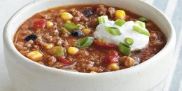 Beefy Corn and Black Bean Chili