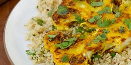 Cauliflower Steaks with Ginger, Turmeric & Cumin