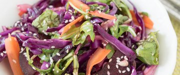 Cabbage Slaw with Orange Dressing
