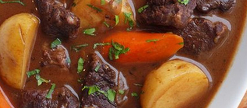 Easy Beef Stew with Turnip & Mushrooms