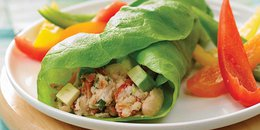 Avocado and Bean Lettuce Wrap