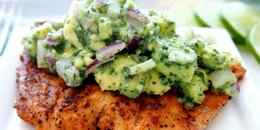 Salmon with Avocado Salsa Oven Baked