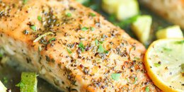 One Pan Lemon Herb Salmon & Zucchini