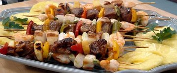 surf 'n' turf skewers