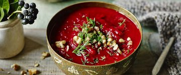 Beetroot and Sweet Potato Soup