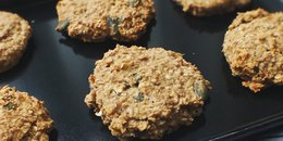 Nut butter and pumpkin seed oat cookies