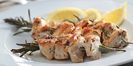 Marinated Chicken and Rosemary Kebabs