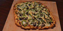Herb Potato, Asparagus, & Smoked Oyster Pizza