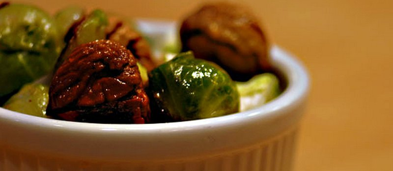 Chestnuts with Brussels Sprouts