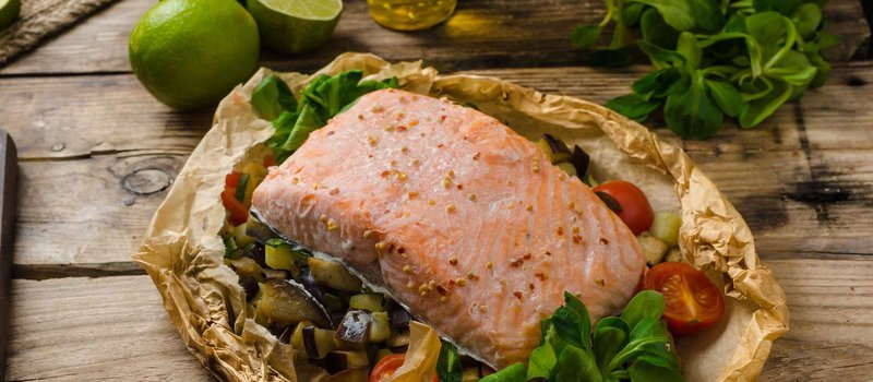 Salmon En Papillote with Green Beans and Potatoes