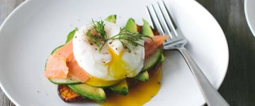 Sweet Potato Toast with Avocado, Salmon & Egg
