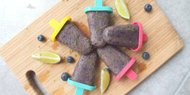 Acai Berry Popsicles with Lime Zest Sprinkles