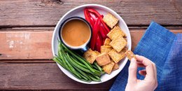 Crispy Tofu with Sesame-Ginger Dipping Sauce