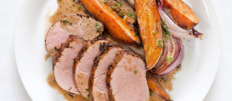 Pork Medallions with Sweet Potatoes