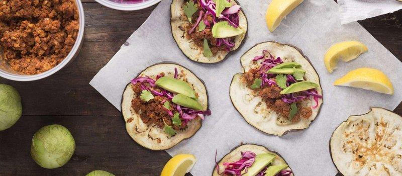 Raw Vegan Eggplant Tacos