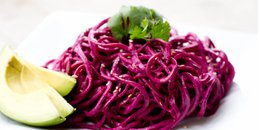 Spiralized Beet Salad with Liquid Gold Dressing