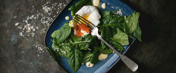 Poached Eggs Over Spinach