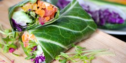 Collard Green Rainbow Wraps