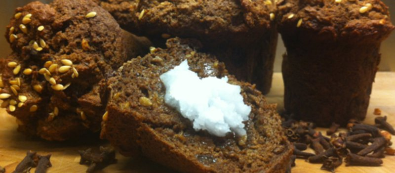 Raisin Flaxseed Muffins