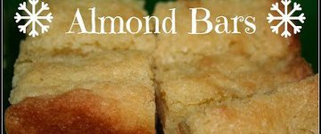 Almond Bars (a.k.a Desperation Cake)