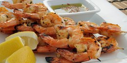 EASY Grilled Mustard Shrimp