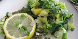 Oven Baked Cod Fish with Spring Vegetables