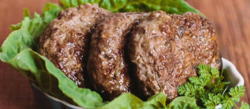 Three-Herb Beef Patties