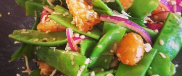 Citrus Snow Pea Salad