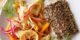Chia Seed and Fennel Crusted Salmon