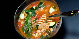 Spinach-Basil Green Minestrone Soup