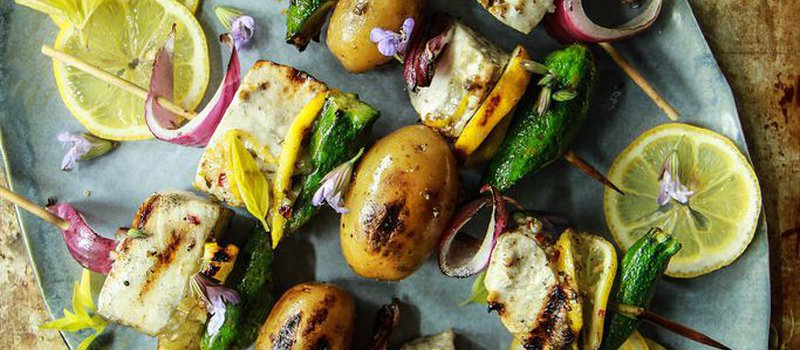 Grilled Swordfish Kebabs