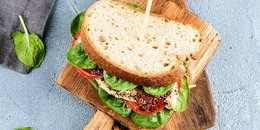 Honey Mustard Turkey Spinach Sandwich