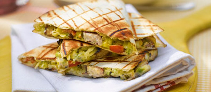 Chicken Quesadilla with Corn