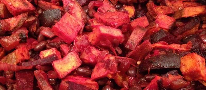 Sweet Bean Salad with Beets