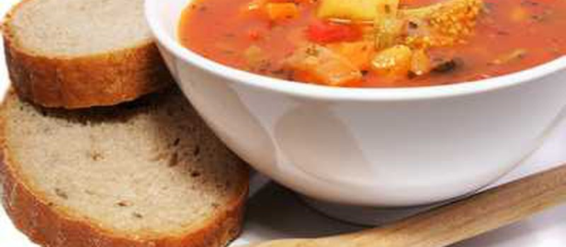 Provencal Vegetable Soup with Goat Cheese