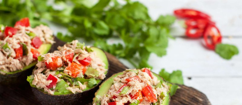 Avocado Tuna Salad Bowls
