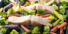 Low Fodmap Salmon, Broccoli and Carrots