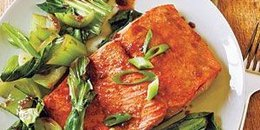 Garlic Lime Rainbow Trout with Steamed Bok Choy