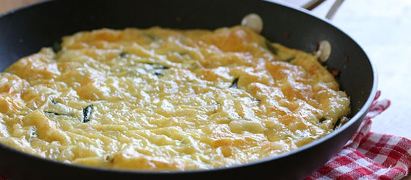Asparagus and Swiss Cheese Frittata