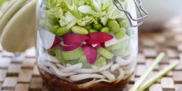 Crunchy Noodle Salad in a Jar