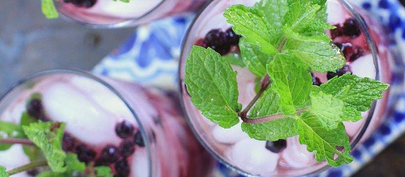 Wild Blueberry Ginger Mint Green Iced Tea