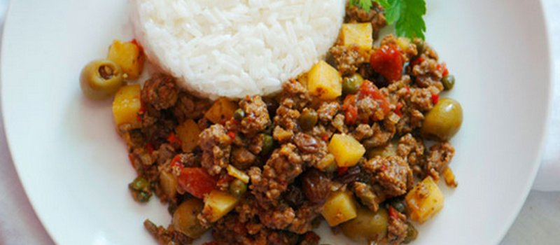 Cuban Picadillo with Ground Beef