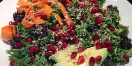 5 Minute Rainbow Kale Salad