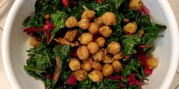 Kale Salad with Roasted Chickpeas