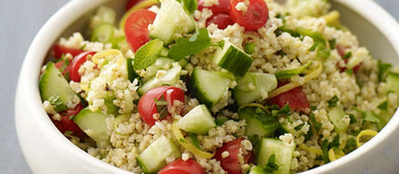 Millet Tabbouleh with Cucumbers and Lime Juice