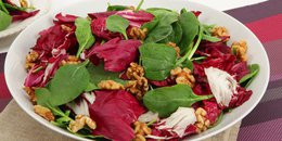 Radicchio, Spinach and Walnut Salad