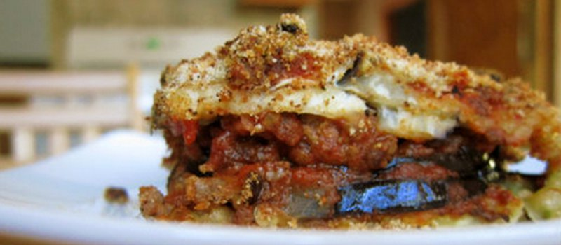 Classic Greek Moussaka with Eggplant