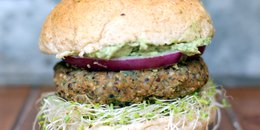Spicy Sweet Potato Black Bean Burger