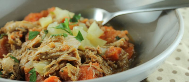 Freezer-Slow Cooker Chicken with Apple & Potato